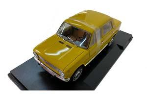 VAZ 2101 LADA FIAT 124 (USSR CAR) 1970 YELLOW (БРАК)   ВАЗ 2101 ЖИГУЛИ (ФИАТ 124) ЛАДА KОПЕЙКА