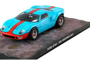 FORD GT40-DIE ANOTHER DAY 2002 LIGHT BLUE/ORANGE