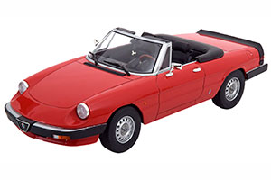 ALFA ROMEO SPIDER 3 SERIE 1 WITH REMOVABLE SOFTTOP 1983 RED LIMITED EDITION 1250 PCS