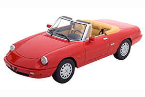 ALFA ROMEO SPIDER 4 WITH REMOVABLE SOFTTOP RED CREME LIMITED EDITION 1250 PCS