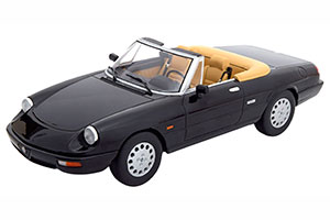 ALFA ROMEO SPIDER 4 WITH REMOVABLE SOFTTOP BLACK CREME LIMITED EDITION 750 PCS