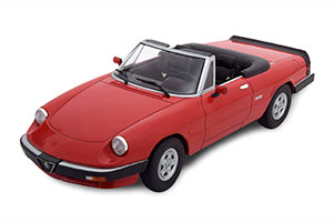 ALFA ROMEO SPIDER 3 SERIE 2 WITH REMOVABLE SOFTTOP 1986 RED LIMITED EDITION 1500 PCS