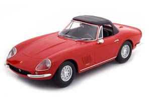 FERRARI 275 GTB/4 NART SPYDER WITH ALLOY RIMS 1967 RED LIMITED EDITION 500 PCS