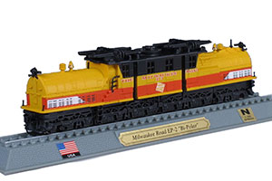 TRAIN MILWAUKEE ROAD EP-2 BI-POLAR ELECTRIC LOCOMOTIVE USA 1919 *ПОЕЗД