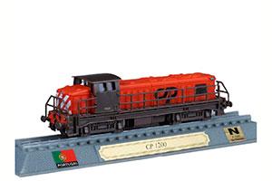 TRAIN CP 1200 DIESEL ELECTRIC LOCOMOTIVE PORTUGAL 1961 *ПОЕЗД