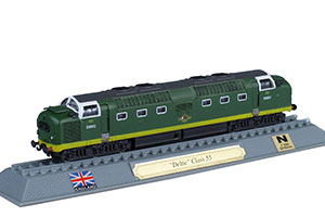 TRAIN DELTIC CLASS 55 DIESEL-ELECTRIC LOCOMOTIVE UK 1961 *ПОЕЗД