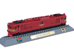 TRAIN SOUTH AFRICAN RAILWAYS 4E ELECTRIC LOCOMOTIVE SOUTH AFRICA 1954 *ПОЕЗД