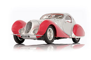 TALBOT-LAGO COUPE TYP 150 C-SS FIGONI & FALASCHI TEARDROP 1937-39 SILVER/RED LIMITED EDITION 1500 PCS. *ТАЛЬБО ЛАГО