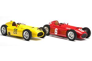 FERRARI D50 YELLOW GP BELGIUM #20 A. PILETTE 1956 + LANCIA D50 RED GP TURIN #6 ASCARI LIMITED EDITION 1000 PCS.