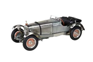 MERCEDES SSK 1930 CLEAR FINISH INCL. SHOWCASE LIMITED EDITION 600PCS.