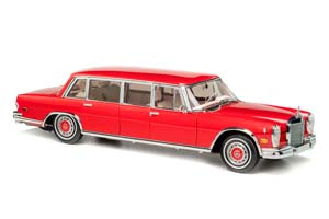 """MERCEDES 600 PULLMAN """"RED BARON"""" 1960-1970 RED LIMITED EDITION 800 PCS."""