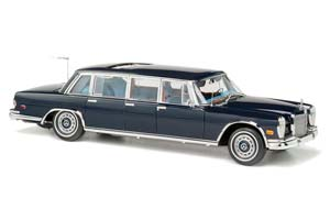 """MERCEDES 600 PULLMAN """"KING OF ROCK'N ROLL"""" 1960-1970 BLUE LIMITED EDITION 800 PCS."""