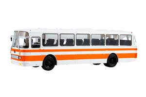 LAZ 699P (USSR RUSSIA BUS) 1978 WHITE/ORANGE OUR BUSES #15 | ЛАЗ 699Р