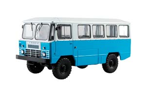 APP-66 4x4 (USSR RUSSIA BUS) 1985-1987 BLUE OUR BUSES #17 | АПП-66 НАШИ АВТОБУСЫ #17