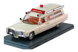 CADILLAC S&S Ambulance 1966 White