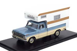 FORD F-100 CAMPER 1968 METALLIC-LIGHT BLUE/BEIGE *ФОРД ФОРТ
