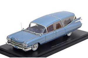 CADILLAC S&S SUPERIOR HEARSE 1959 METALLIC LIGHT BLUE *КАДИЛАК КАДИЛЛАК КЭДИ