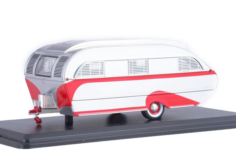 AERO FLITE FALCON TRAVEL TRAILER 1947 SILVER/RED *АЭРО