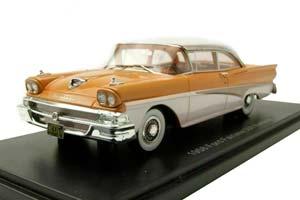 FORD FAIRLANE 500 HARDTOP 1958 LIGHT BROWN BEIGE/WHITE