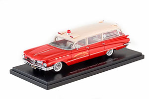 BUICK FLXIBLE PREMIER AMBULANCE 1960 RED/WHITE