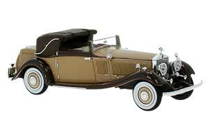 ROLLS-ROYCE PHANTOM II CONTINENTAL DHC GURNEY NUTTING 1934 LIGHT BROWN
