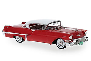 CADILLAC SERIES 62 HARDTOP COUPE 1957 RED/WHITE