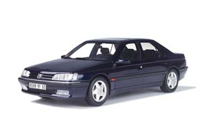 PEUGEOT 605 SV 24 1992 BLUE