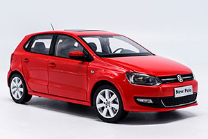 VW VOLKSWAGEN POLO 2013 RED