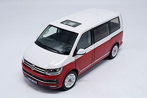 VW VOLKSWAGEN T6 MULTIVAN 2018 WHITE/RED