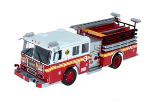 SEAGRAVE FIRE TRUCK FIRE DEPARTMENT NEW YORK RED/WHITE *СИГРЕЙВ
