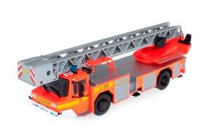 IVECO MAGIRUS DLK 23-12 WITH TURNTABLE LADDER FIRE DEPARTMENT LAM ORANGE RED *ИВЕКО