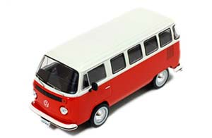 VW VOLKSWAGEN KOMBI T2 1976 RED/WHITE