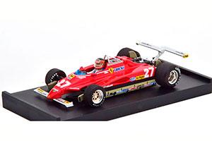 FERRARI 126 C2 TURBO GP USA 1982 VILLENEUVE WITH DRIVER FIGURINE