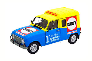 RENAULT 4 F4 DARTY 1988 BLUE YELLOW RED