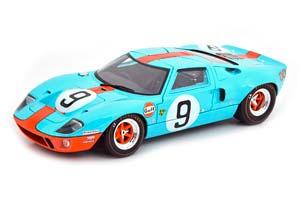 FORD GT40 WINNER 24H LE MANS RODRIGUEZ/BIANCHI 1968 GULF BLUE