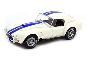 SHELBY COBRA 427 S/C WITH REMOVABLE HARDTOP WHITE/BLUE