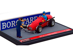 FERRARI 500 F2 GP GERMANY WORLD CHAMPION 1953 ASCARI WITH FIGURINES AND ACESSORIES