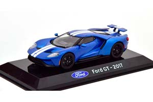 FORD GT 2017 BLUEMETALLIC/WHITE