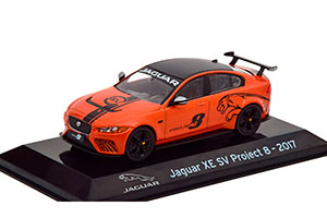 JAGUAR XE SV PROJECT 8 2017 ORANGE-METALLIC/FLATBLACK