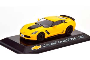 CHEVROLET CORVETTE Z06 2017 YELLOW/FLATBLACK