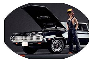 FIGURINE CAR REPAIR GIRL FIGURE HIGH END FIGURINES FOR 1/18 MODELS NEW 2016