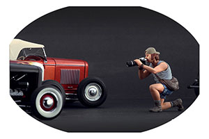 Figurine Car Photographer High End Figurines For 1/18 Models New 2016