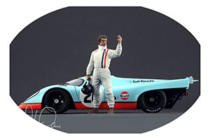 Figurine Steve McQueen Le Mans High End Figurines For 1/18 Models New 2017