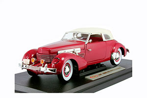 CORD 812 SUPERCHARGER 1937 DARK RED *КОРД