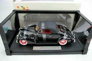 BUICK CENTURE CONVERTIBLE COUPE 1938 BLACK *БЮИК БЬЮИК