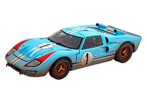 FORD GT40 MK II #1 THE REAL WINNER 24H LE MANS 1966 MILES/HULME DIRT LOOK   ИЗ ФИЛЬМА ФОРД ПРОТИВ ФЕРРАРИ ГРЯЗНАЯ ВЕРСИЯ