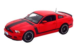 FORD MUSTANG BOSS 302 2013 RED BLACK