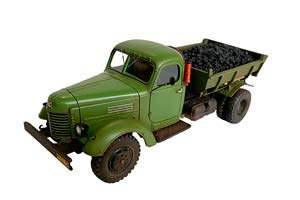 ZIS-164 MMZ-585 DUMP TRUCK WITH COAL IN THE BACK (WITH TRACES OF OPERATION)   ЗИС-164 MMЗ-585 САМОСВАЛ С УГЛЁМ В КУЗОВЕ (СО СЛЕДАМИ ЭКСПЛУАТАЦИИ) *ЗИС