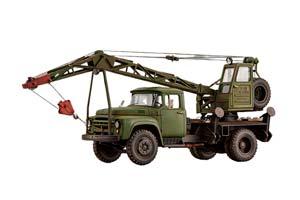 ZIL-130 TRUCK CRANE K-46 ON SH. ZIL-130 MILITARY VERSION (WITH TRACES OF EXPLOITATION) | ЗИЛ-130 АВТОКРАН К-46 НА Ш. ЗИL-130 ВОЕННЫЙ ВАРИАНТ (СО СЛЕДАМИ ЭКСПЛУАТАЦИИ) *ЗИЛ ЗАВОД ИМЕНИ ЛИХАЧЕВА