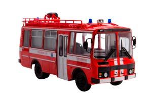 PAZ-3205 AG-12 FIRE BUS (USSR RUSSIA BUS) RED | ПАЗ-3205 АГ-12 САНИТАРНЫЙ НАШИ АВТОБУСЫ. СПЕЦВЫПУСК №2 *ПАЗ ПАВЛОВСКИЙ АВТОЗАВОД